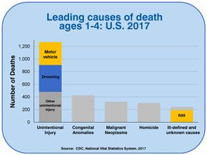 Leading Causes of Death Ages 1-4: U.S. 2017